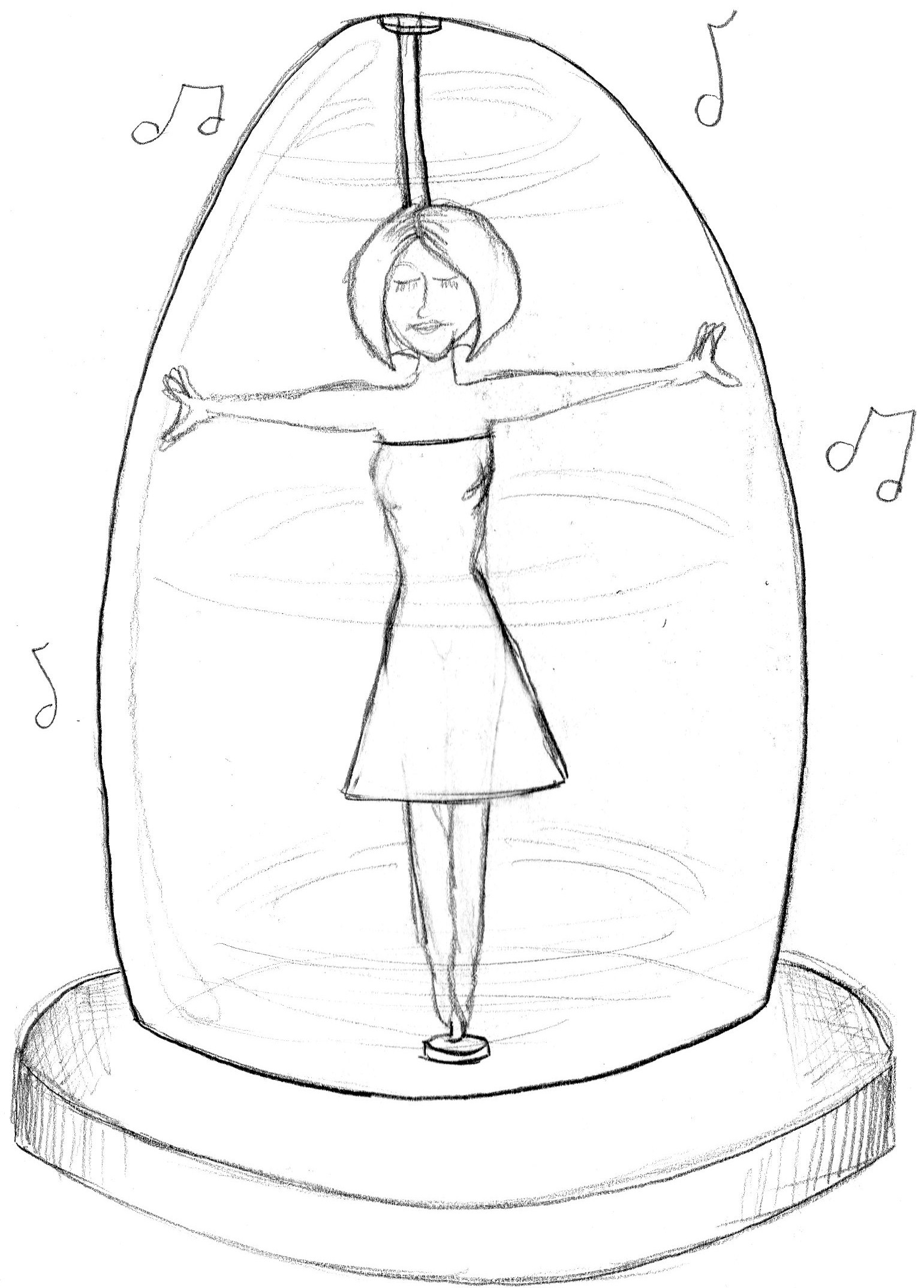 Bell Jar Drawing From The Beginning my First